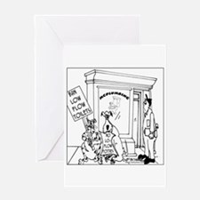 Protest Low Flow Toilets Greeting Card