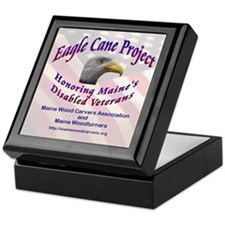 Maine Eagle Cane Keepsake Box
