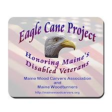Maine Eagle Cane Mousepad