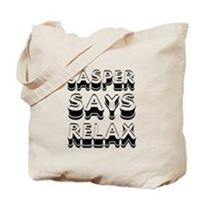Jasper Says Relax Twilight Tote Bag