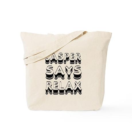 Jasper Says Relax Twilight Tote Bag