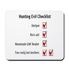 Hunting Evil Checklist Mousepad