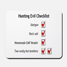 Hunting Evil Checklist Mousepad