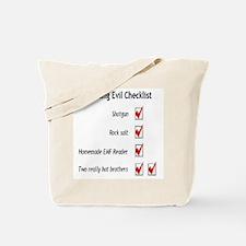 Hunting Evil Checklist Tote Bag