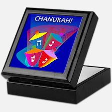 Chanukah Spinning Dreidles Keepsake Box