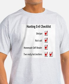 Hunting Evil Checklist Ash Grey T-Shirt