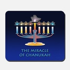 Chanukah Menorah Mousepad