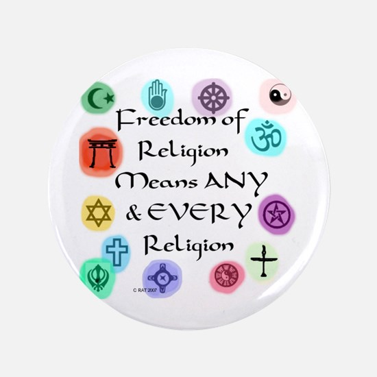 "Freedom of Religion 3.5"" Button"