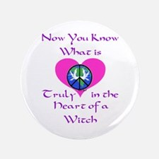 """The Heart of a Witch 3.5"""" Button"""