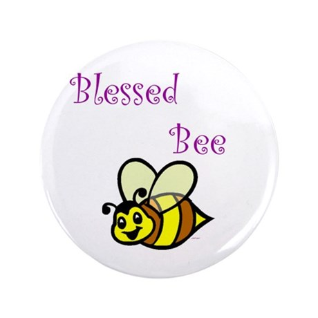 """Blessed Bee 3.5"""" Button"""