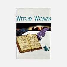 Witchy Woman too Rectangle Magnet