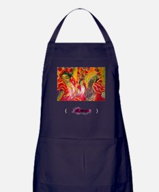 Cute Paintings Apron (dark)