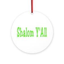 Shalom Y'all Ornament (Round)