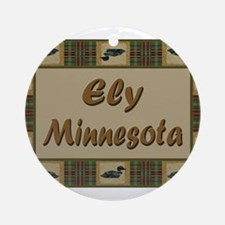 Ely Minnesota Loon Ornament (Round)