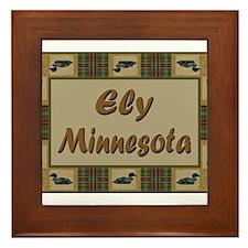 Ely Minnesota Loon Framed Tile