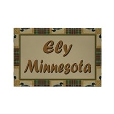 Ely Minnesota Loon Rectangle Magnet (100 pack)