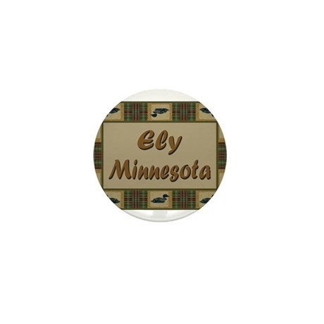 Ely Minnesota Loon Mini Button (10 pack)