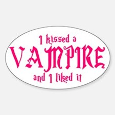 Kissed Vampire Oval Decal