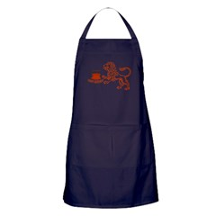 July August Leo Birthday Apron (dark)