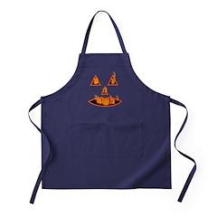 Burning Halloween Pumpkin Apron (dark)