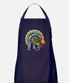 Patchwork Thanksgiving Turkey Apron (dark)