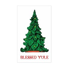 BLESSED YULE Rectangle Decal