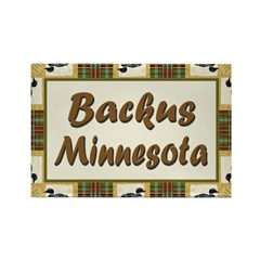 Backus Loon Rectangle Magnet (10 pack)