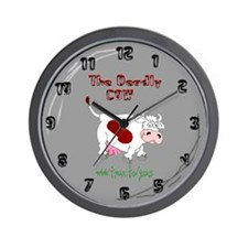 Deadly Cow Wall Clock