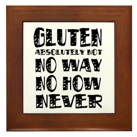 Gluten No Way Framed Tile