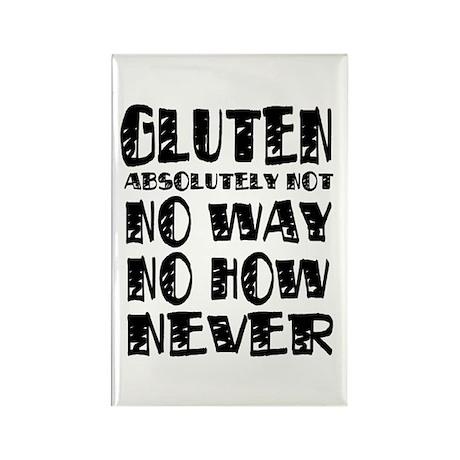 Gluten No Way Rectangle Magnet (10 pack)