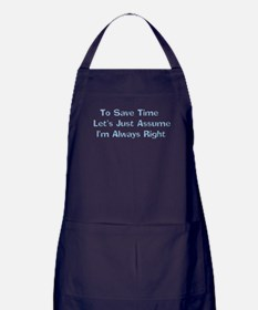 Always Right Apron (dark)