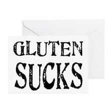 Gluten Sucks Greeting Cards (Pk of 20)