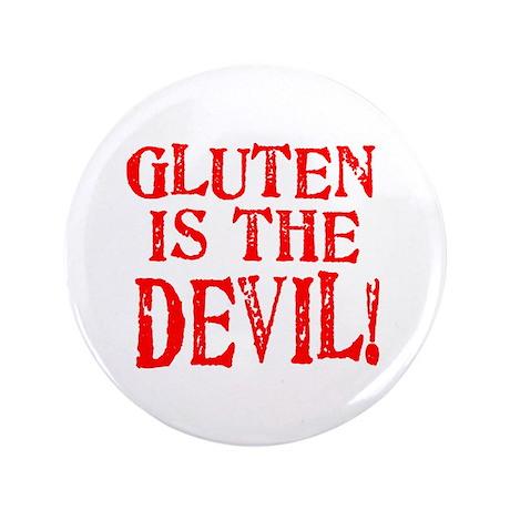 "Gluten Is The Devil 3.5"" Button (100 pack)"
