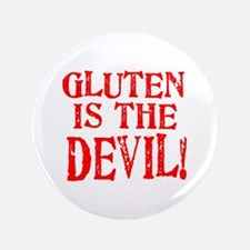 """Gluten Is The Devil 3.5"""" Button"""
