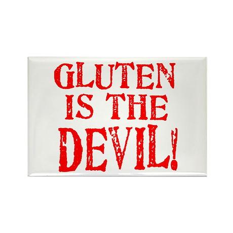 Gluten Is The Devil Rectangle Magnet (100 pack)