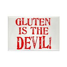 Gluten Is The Devil Rectangle Magnet (10 pack)