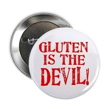 "Gluten Is The Devil 2.25"" Button (100 pack)"