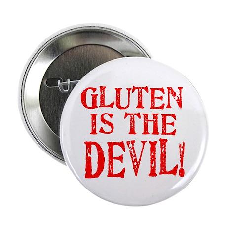 "Gluten Is The Devil 2.25"" Button (100 pack)"