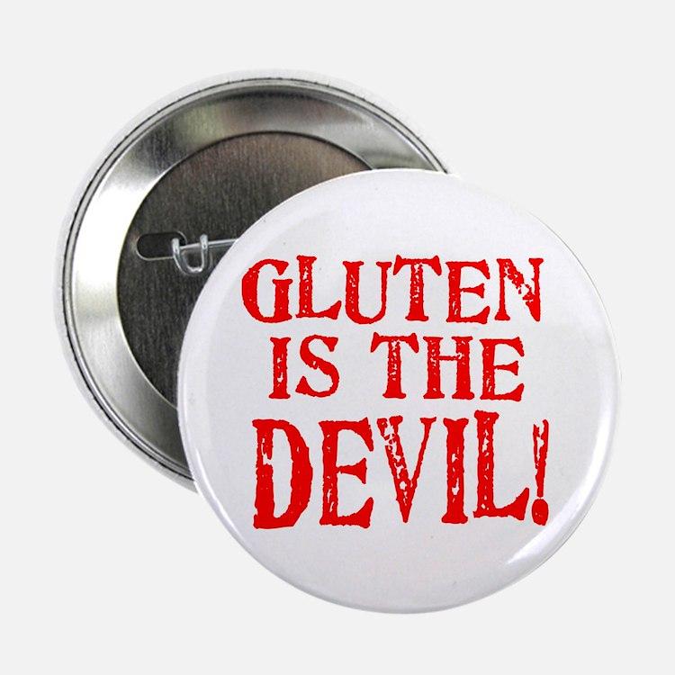 """Gluten Is The Devil 2.25"""" Button"""