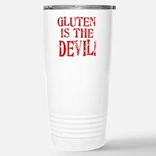 Gluten Is The Devil Stainless Steel Travel Mug
