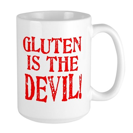 Gluten Is The Devil Large Mug