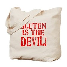 Gluten Is The Devil Tote Bag