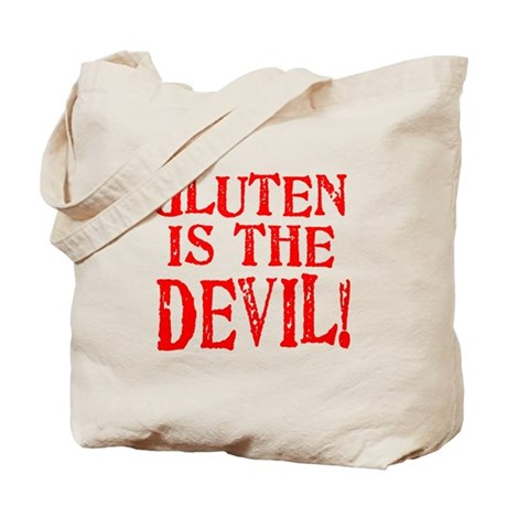 Gluten Is The Devil Tote Bag