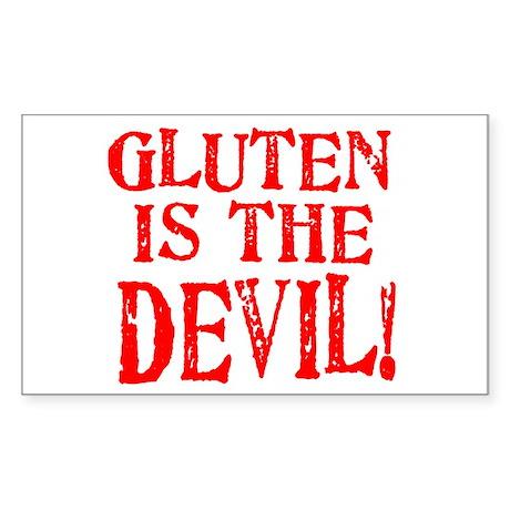 Gluten Is The Devil Rectangle Sticker 10 pk)