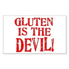 Gluten Is The Devil Rectangle Decal