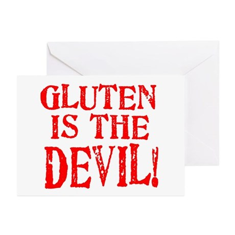 Gluten Is The Devil Greeting Cards (Pk of 10)