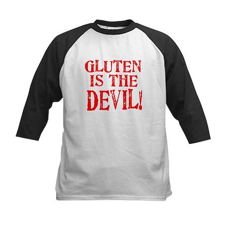 Gluten Is The Devil Kids Baseball Jersey