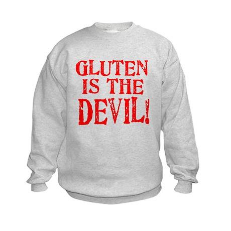 Gluten Is The Devil Kids Sweatshirt
