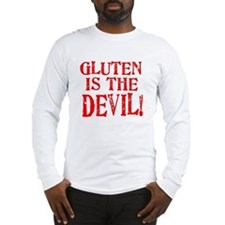Gluten Is The Devil Long Sleeve T-Shirt