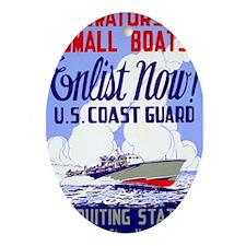 Enlist in the Coast Guard Oval Ornament
